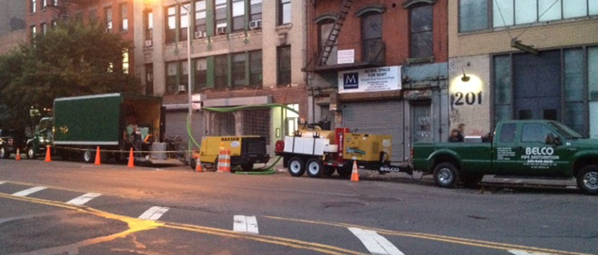 Chrystie Street- Drain, sewer, and potable pipe sytems replaced in a single weekend